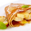 Stock Photo: Crepes with maple sirup