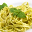 Pasta pesto - Stock Photo