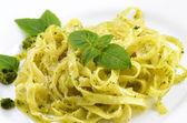 Pasta pesto — Stock Photo