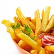 French fries with ketchup — Stock Photo #10260199