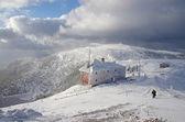 山の上の冬の風景 — ストック写真