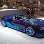 Постер, плакат: Blue Bugatti Veyron