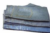 Folded jeans — Stock Photo