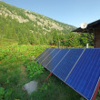 Solar panel on mountain — Stock Photo