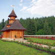 Small wooden church — Stock Photo