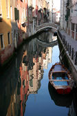 Canal Reflection in Venice. — Stock Photo
