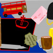 Vector illustration of London city attractions — ストックベクター #10320090