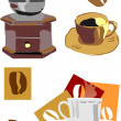 Coffee kit — Stock Vector
