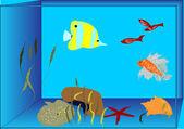 Aquário de peixes tropicais — Vetorial Stock