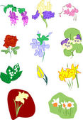 Flowers vector illustration — Stock Vector