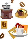 Coffee kit — Stock Vector
