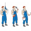 Royalty-Free Stock Vector Image: Set of building trades