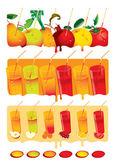 Juice set — Stock Vector