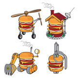 Super cheeseburger — Stock Vector