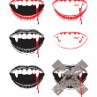Vampire lips — Stock Vector #10212967