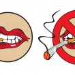 Royalty-Free Stock Vector Image: Do not smoke