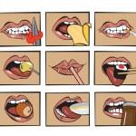 Рот ест — Cтоковый вектор