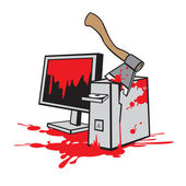 Dead computer — Stock Vector