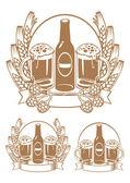 Beer bottle ear — Stock Vector