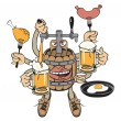 Beer monster — Stock Vector #10220091