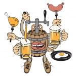 Beer monster — Stock Vector