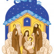 Stock Vector: Mary and Jesus