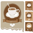 Strong coffee — Stock Vector