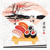 Sushi herons — Stock Vector