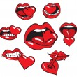 Mouth heart - Stock Vector
