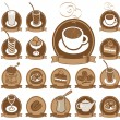 Icons for coffee — Stock Vector
