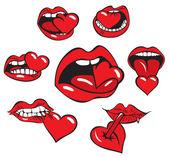 Cuore di bocca — Vettoriale Stock