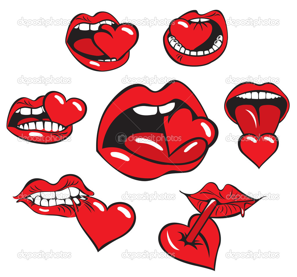 Mouth eats the heart — Stock Vector #10458298