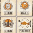 Stock Vector: Menu with beer