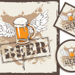 Beer coasters — Stock Vector