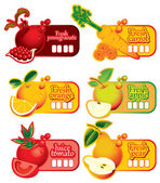 Juice and fresh — Stock Vector