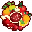 Banner with fruit — Stock Vector
