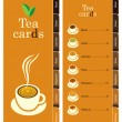 Tea card — Stock Vector