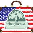 Royalty-Free Stock Vector Image: Case with American flag
