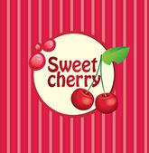 Sweet cherry — Stock Vector