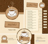 Set for the cafe menu — Stock Vector