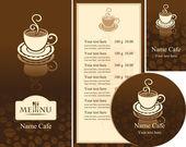 Menú de café — Vector de stock