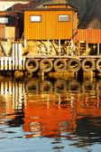 Dockyard and Reflection — Stock Photo