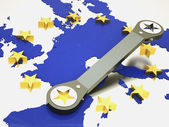 Repair of european union — Stock Photo