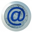 Ice e-mail icon — Stock Photo