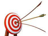 Arrow hits the target — Stock Photo