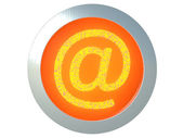 Burning e-mail icon — Stock Photo