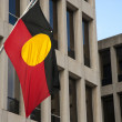Aboriginal flag — Stock Photo