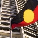 Aboriginal flag — Stock Photo