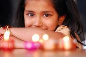 Diwali performer — Stock Photo