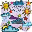 Set of weather — Stock Vector